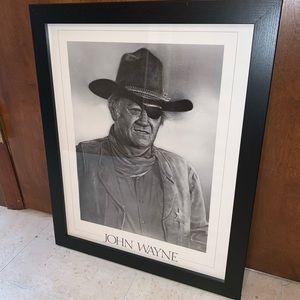 John Wayne Framed Portrait